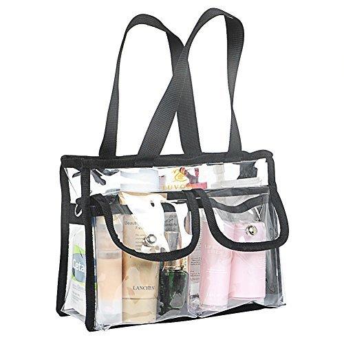 Romote EVA Clear Bag, Utile pour Voyage Douche et Effacer, Étanche Emballage Organisateur Sacs de Rangement Noir