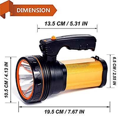 ROMER LED Rechargeable Handheld Searchlight High-power Super Bright 9000 MA 6000 LUMENS CREE Tactical Spotlight Torch Lantern Flashlight