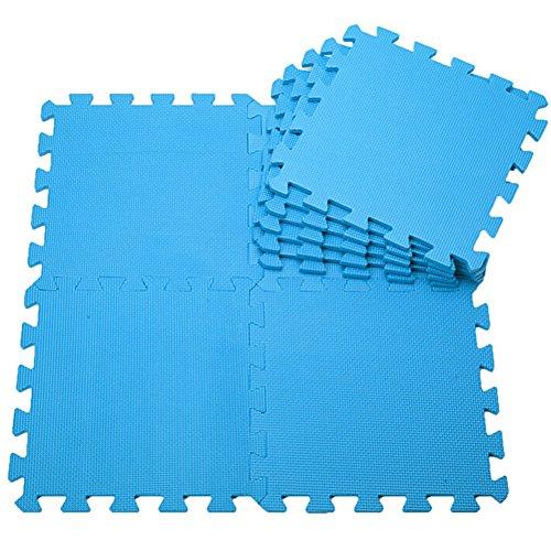 lightclub 30x30cm 10Pcs/Set EVA Foam Baby Kids Home Exercise Gym Antislip Play Floor Mat Blue