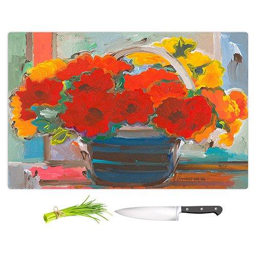 DIANOCHEキッチンカッティングボードby Hooshang Khorasaniレッドブーケ花 Large 15