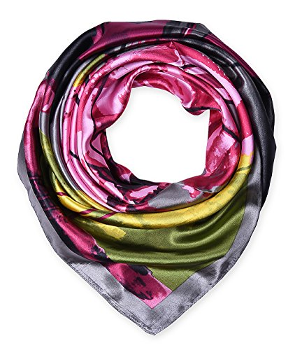 Women's Neckerchief Large Square Silk Like Scarf Headdress 35