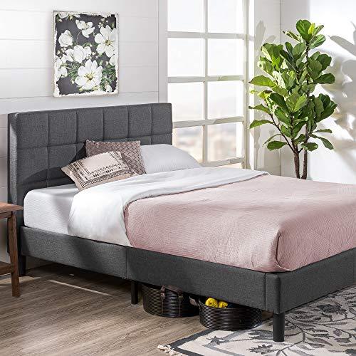 ZINUS Lottie Upholstered Platform Bed Frame / Mattress Foundation / Wood Slat Support / No Box Spring Needed / Easy…