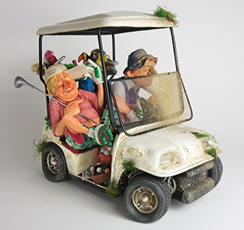 Golf Cart Figurine The Buggy Buddies Comic Art Of Guillermo Forchino (8 7/8 Inch Long) (Golf Third Cart)