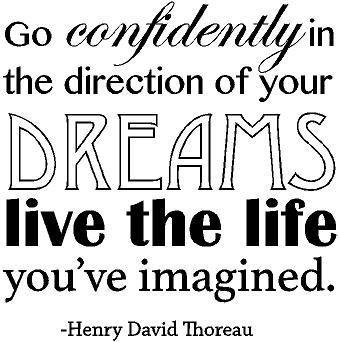 Amazoncom Henry David Thoreau Quote Inspirational Vinyl Wall