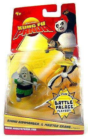 Kung Fu Panda Movie Figure 2-Pack Rhino Commander & Master Crane
