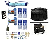 2 Person Supply 1 Day Emergency Bug Out S.O.S. Food Rations, Purified Drinking Water, LifeStraw Personal Filter + Ultimate Arms Gear Duty Gear Bag + Survival First Aid Kit & Multi Tool Set