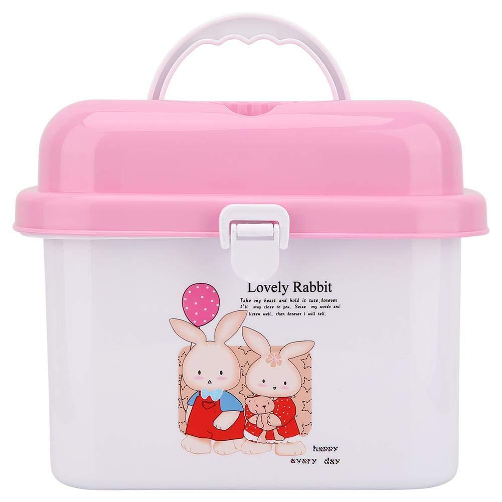 Flaschenbox Rosa tragbares Ablagetablett f/ür Kinder W/äscheleine mit Staubschutz Baby Geschirr Organizer f/ür die K/üche zu Hause