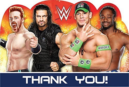 Wwe Party Postcard Thank You 8 Count-2Pack]()