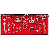 キングダム ハーツ 豪華13個 ネックレス セット & ブレスレット 2点セット コスチューム用小物 銀