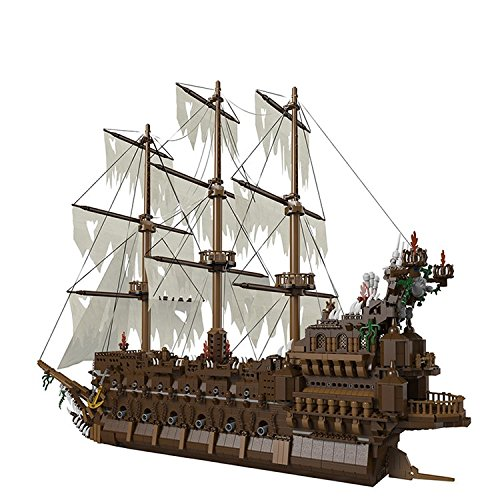 NEW Lepin 16016 3652Pcs Movies Series MOC Pirates of the Caribbean The Flying the Netherlands Building Blocks Bricks Compatible to Children Gifts