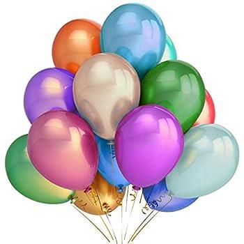 Amazon 500 PCS Pearlized Balloon Helium Latex Balloons For
