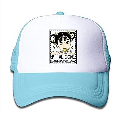 Wagroo Lemon Face Challenge Child Baby Kid Mesh Caps Adjustable Trucker Hats Summer Snapback