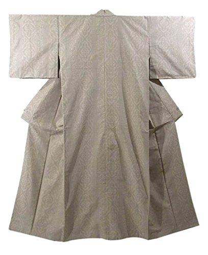 ロープバング明らかにリサイクル 着物 紬 結城紬風 華文 正絹 袷 裄64cm 身丈158cm