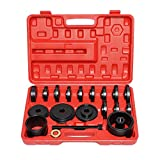 CATUO 23-Piece FWD Front Wheel Drive Bearing Adapters Puller Press Replacement Installer Removal Tool Kit with Red Carrying Case -XC4037