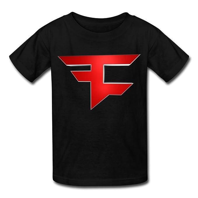 Kazzar Kids Faze Clan Logo Template Round Collar T Shirt S