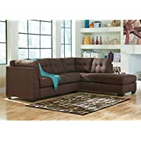 Marlo Walnut 2 Pc. Sectional With Full Sleeper LAF - Sofa - Chaise