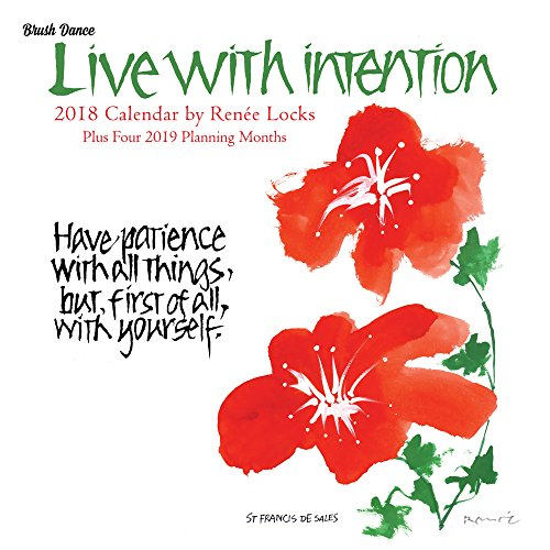 Live with Intention 2018 Wall Calendar