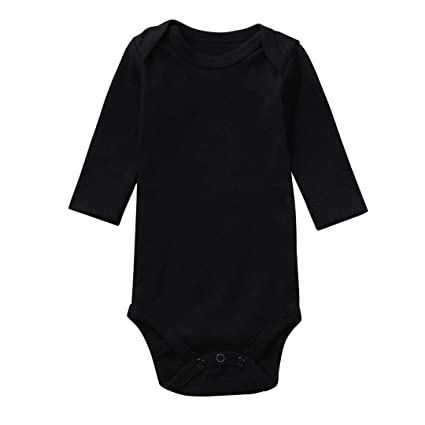 d5b77bba1 Amazon.com: Newborn Infant Toddler Baby Girl Boy Plain Bodysuit Christmas  Outfit Solid Romper Winter Gifts Long Sleeve Jumpsuit Clothes (3-6 Months,  ...