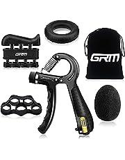 GRM Gripstyrka tränare underarmsförstärkare, justerbart motstånd 5-60 kg handgrepp tränare träning för rehabilitering idrottare klättrare musiker