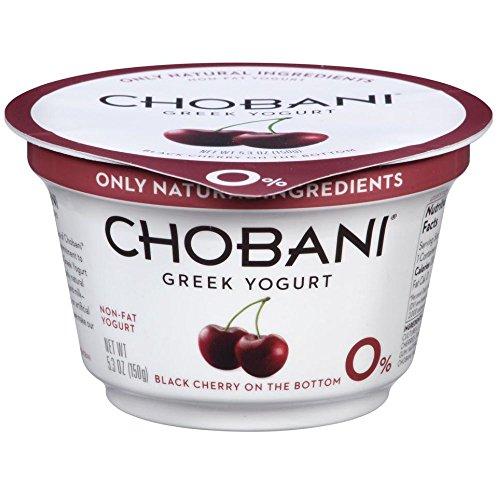 Chobani Black Cherry on the Bottom Non Fat Greek Yogurt, 5.3 Ounce -- 12 per - Greek Chobani Yogurt