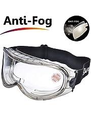 SAFEYEAR Schutzbrille Arbeitsbrille für Brillenträger – SG007 (2018 Modern) mit Seitenschutz und Rutschfesten Bügeln UV-Schutz mit Lüftung Gartenarbeit