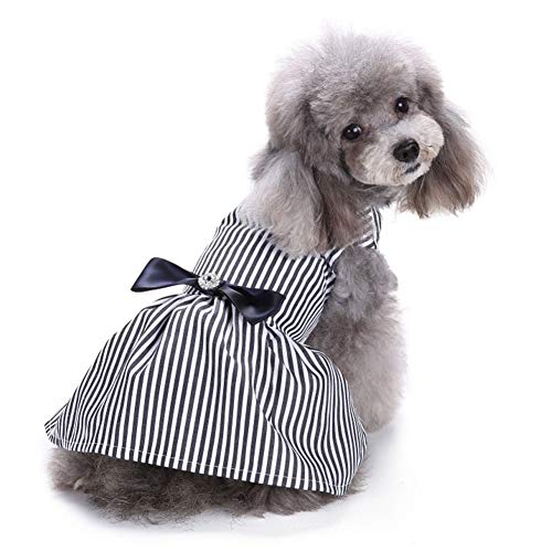 (Dog Sundress Pet Wedding Dress Coat for Small Medium & Large Dogs Suits Cute Puppy T-Shirt Vest Costumes Top Clothes Festival Apparel Party Photo Taking Cosplay Tops Plaid or Striped Tuxedo with Bow)