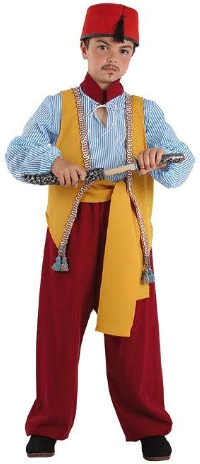 Disfraces FCR - Disfraz aladino niño talla 6: Amazon.es: Ropa y ...