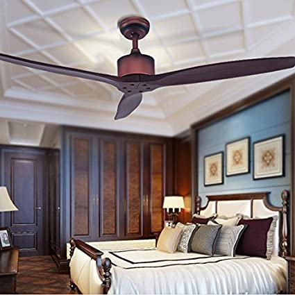 Decoración creativa ventilador silencioso lámpara sin luz hoja rojo 52 pulgadas ventilador de techo FARO Ventilador remoto