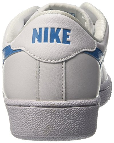 Nike Mens Tennis Classico In Pelle Moda Sneaker Bianco / Orion Blu