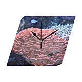 HangWang Wall Clock Importance Of Coral Reefs Silent Non Ticking Decorative diamond Digital Clocks Indoor Outdoor Kitchen Bedroom Living Room