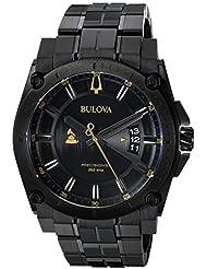 Bulova Mens Grammy Quartz Stainless Steel Casual Watch, Color:Black (Model: 98B295)