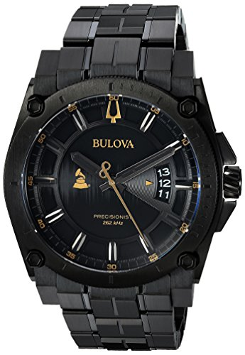 Bulova Men's 'Grammy' Quartz Stainless Steel Casual Watch, Color Black (Model: 98B295)