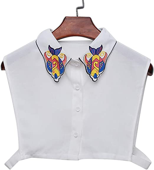 KYMLL - Camisa de Pescados de Animales Falsos con Cuello Desmontable para Mujer y niña: Amazon.es: Hogar