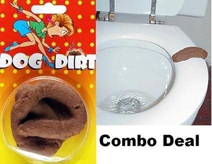 Amazon com: Combo Fake Dog & Human Poop Crap Turd - Funny Gross