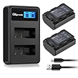 OAproda NP-FZ100 Battery (2-Pack) and LCD Dual USB Charger for Sony NP-FZ100, BC-QZ1 Charger and Sony a9, a7R III, a7 III Digital Camera