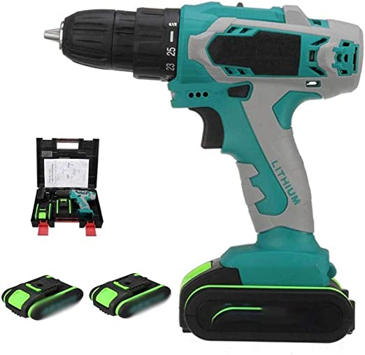 Amazon Com Qin Lithium Electric Drill 36v Two Batteries One Charge Dual Speed To Impact Drill High Power Electric Screwdriver 1 2 Inch Electric Drill Set Heavy Duty Cordless Drill Driver For Screwing And Fasteni