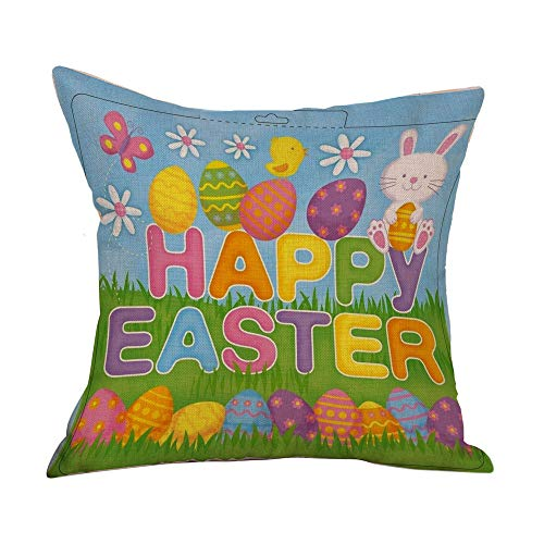 4-Pack Emotion Easter Throw Pillow Case Vintage Cover Spring Home 18 X 18 Inch for Sofa Pillow -