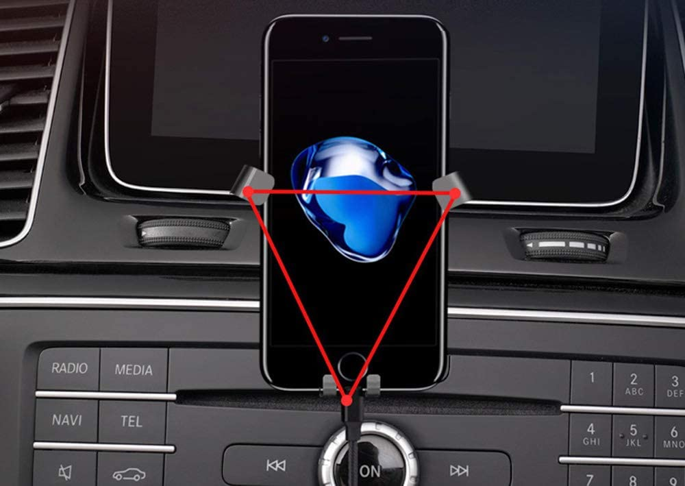 2017-2019 X166 GLS-Class Wont Occupy Air Vent Opening iJDMTOY Smartphone Gravity Holder w// Exact Fit Clip-On Dash Mount Compatible With Mercedes 2016-2019 W166 GLE-Class