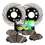 Approved Performance F14632 Shelby GT500 Boss 302 [Front Kit] Performance Drilled/Slotted Brake Rotors and Carbon Fiber Pads