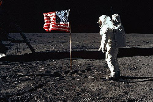 moon-astronaut-usa-flag-nasa-poster-24x36-60s-70s-space-program-rare