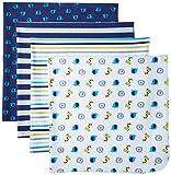 Gerber Baby Boys' 4 Pack Flannel Receiving Blanket, Safari, One Size