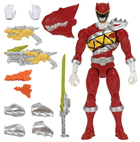 "Power Rangers Dino Charge - 7"" Armored Dino Red Ranger Action Figure"