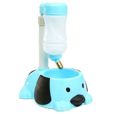 Tao King mascota automático dispensador de botella agua potable fuente alimentador de gato de plástico cuenco