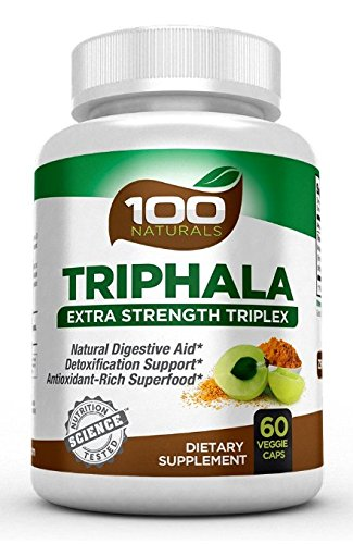 100 Naturals Triphala - Pure Himalaya Triphala Extract Plus Capsules-maximum Strength, 1500 Mg, 60 Veggie Capsules