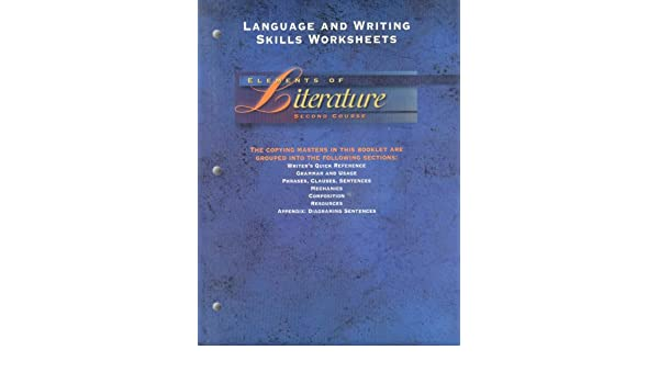 Elements of Literature, Second Course, 1995 (Language and Writing ...