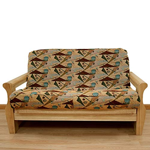 Easy Fit Inc. Mardi Gras Pattern Full-Size Futon Cover