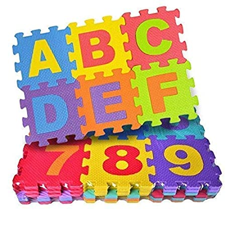 cartup Babies Puzzle Big Foam Blocks Play Mat Educational Interlocking Toys, 36 Tiles (Multicolour)