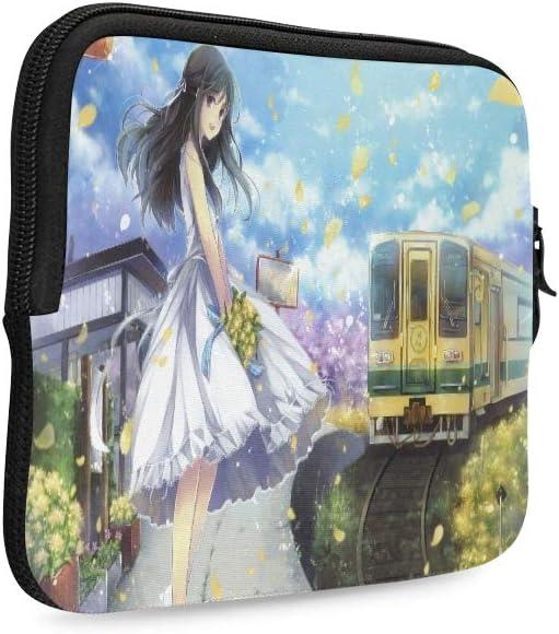 Manga Anime Fille Printemps Art Train P/étales Fleur Ha Ipad 7,9 Pouces Housse pour Tablette Pochettes Doux Antichoc N/éopr/ène Poche /À Glissi/ère pour Tablette pour Ipad Mini