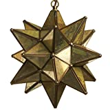 Glass Star Pendant Lights (12 Inch, Mirror)