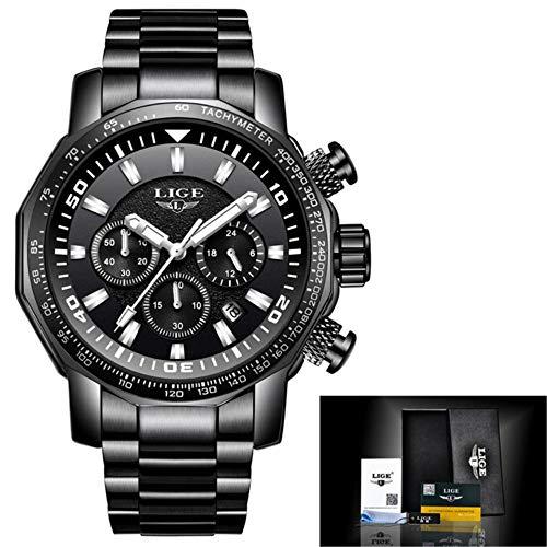 en Watch Chronograph Full Steel Business Quartz Clock Military Sport Waterproof Watch Man Relogio Masculino 71 ()